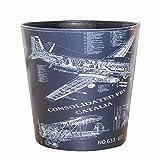 Papierkorb Büro, Foxom PU Leder Abfalleimer Mülleimer Mülltonne Papierkorb Vintage für Büro/Badezimmer/küche/Schlafzimmer