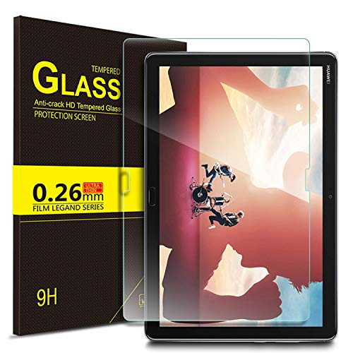 ELTD Verre Trempé Protection écran pour Huawei MediaPad M5 Lite 10, Dureté 9H, 2.5D Bords Arrondis Film pour Huawei MediaPad M5 Lite 10 10.1 Pouce 2018,(1-Pack)