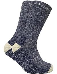 2 paires homme epaisse hiver chaudes laine chaussettes randonnée en 4 couleurs