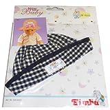 Simba New Born Baby Sommermütze Farben wählbar Mütze kariert Puppenbekleidung Puppe, Farbe:dunkelblau
