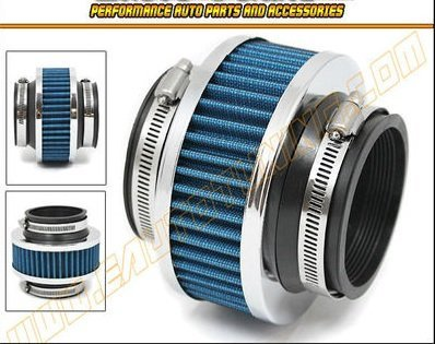 hpp-cold-air-intake-bypass-valve-filter-3-76mm-in-blue-2010-1988-cadillac-allante-brougham-deville-e