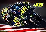 46 Valentino Rossi 2019 Moto GP A2 Poster