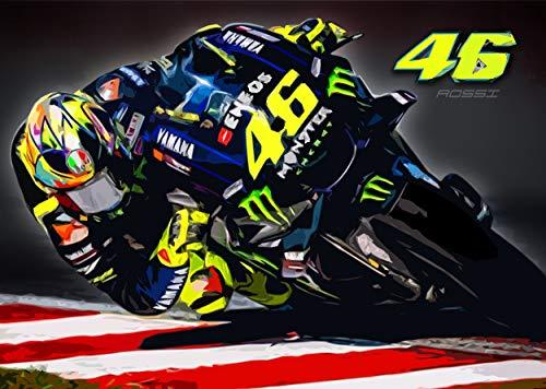 46 Valentino Rossi 2019 Moto GP A2 Póster
