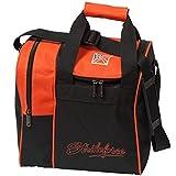 KR Strikeforce Rook 1 Ball Bowling-Single-Tasche in 7 verschiedenen Farben mit Platz für Ball und Schuhe (Orange)