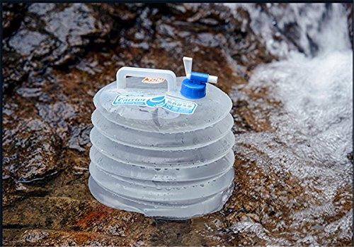 Outdoor-Camping Falten Eimer mit Wasserhahn Lagerung Eimer tragbaren Wasser Tasche 5L / 10L / 15L White