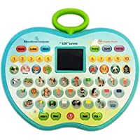 SUPER TOY Educational Computer ABC and 123 Learning Kids Laptop with LED Display and Music (with Battery)