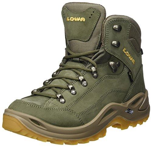Gtx Womens Boot (Lowa Damen Renegate GTX Mi Trekking- & Wanderstiefel, Grau (Schilf/Honig 4853), 41 EU)