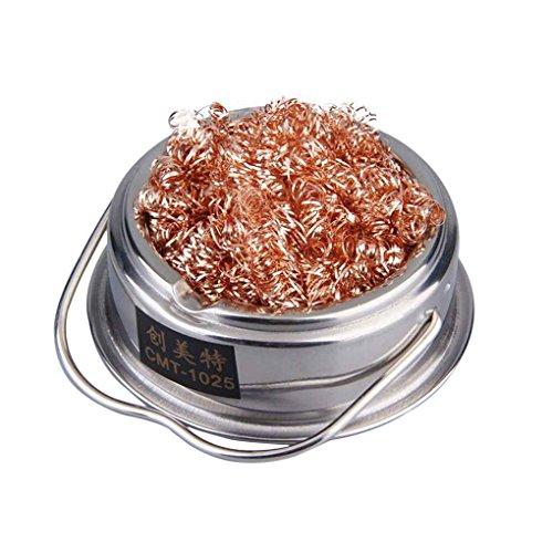 coconut L?tzinn Kopfreiniger L?tkolben Stahlmaschendraht-Reinigungs-Reinigungsmittel mit Standfu?