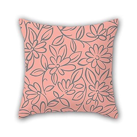Pillo Couvre-lit Taie d'oreiller de fleur 40,6x 40,6cm/40par 40cm, meilleure adaptation pour berline, chambre à coucher, salle d'étude, adolescents garçons, Shop, ses deux côtés