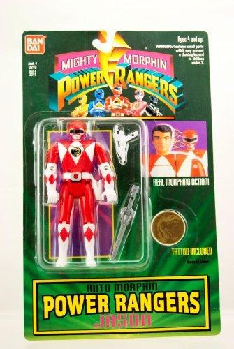 Mighty Morphin Power Rangers Auto Morphin Jason from Bandai
