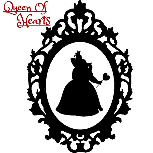 Disney Villain Schurke Silhouette Halloween Gothic Sticker Aufkleber Wunderland Queen Of hearts Königin HerzenWall Window Home Haunted Haus Vinyl Abziehbild Decal