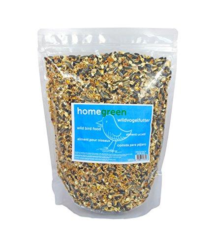 HomeGreen, mangime per uccelli ed uccelli selvatici, con semi di girasole, molto nutriente