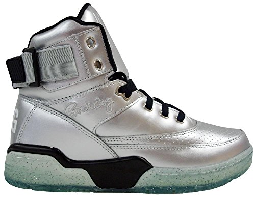 EWING Athletics 33 HI Silver Black Ice Basketball Shoe Men Limited Edition -