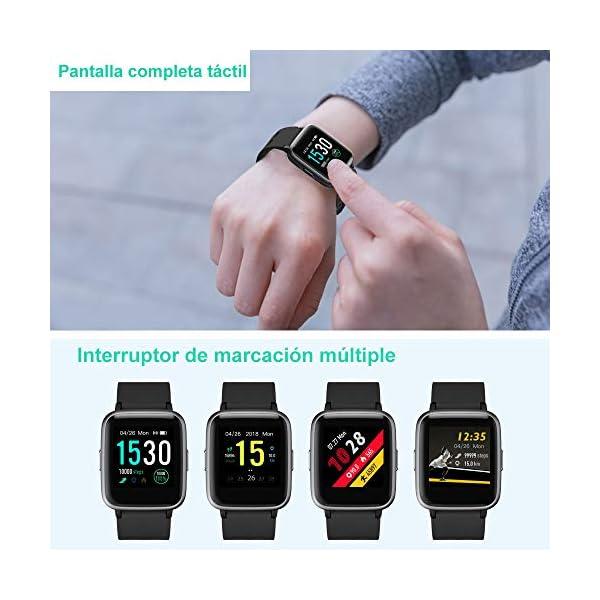 YAMAY Smartwatch, Impermeable Reloj Inteligente con Cronómetro, Pulsera Actividad Inteligente para Deporte, Reloj de… 2