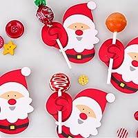 Decoraciones de Hunpta con diseño de Papá Noel para piruletas, ...