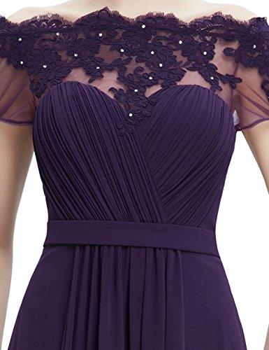 Ever Pretty Robe de cocktail Longue et le buste en ruche 08490 Violet