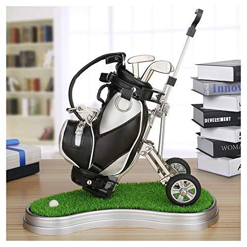 piaomiaoren Golf-Geschenkset für den,Stifthalter mit 3 Kugelschreibern aus Aluminiumlegierung, golfschläger golfbag trolleys Souvenirs/Geschenk für Weihnachten