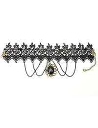 Nuevo Collar Gargantilla Encaje Con Colgante Gótico Cadena Accesorio para Mujer