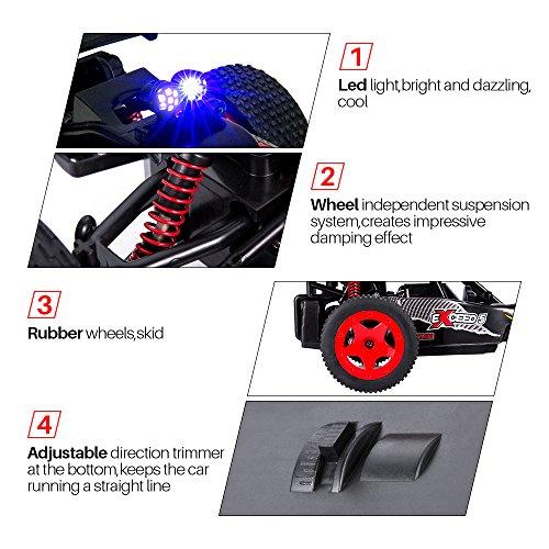 ZFLIN RC Auto 1:16 mit 2.4Ghz Fernsteuerung Monster-Truck RC Buggy elektrischer Hochgeschwindigkeits-Rennwagen mit 2WD und 50m Reichweite der Funkfernsteuerung - 5