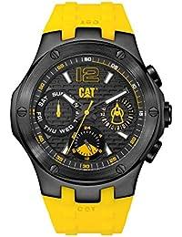 CAT Navigo Multi Men's Watch Black & Yellow Dial Yellow Silicone Strap A116927131