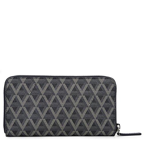lancaster-paris-womens-11802noir-black-canvas-wallet