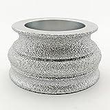 diatool 7,6cm/75mm Vakuum eingelötete Profil Hand Diamond Wheel Stein Diamant Gitter Edge Optik convext, für Stein Abrasiv Schleifscheibe Körnung 60Diamant Höhe 35mm 40mm 45mm