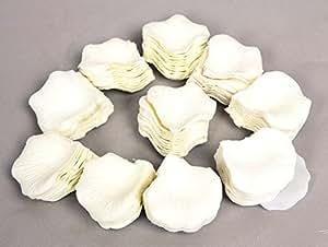 1000 petali fiore Bianco seta rosa festa di nozze (Ivory)