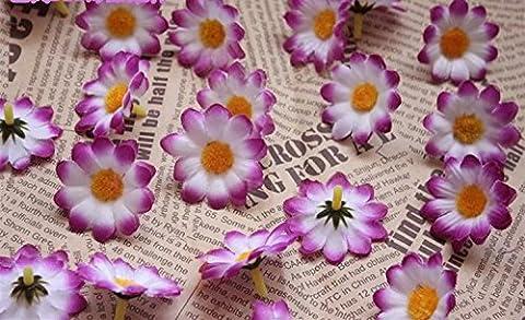 RICISUNG Artificial Gerbera Daisy Flower Heads for DIY Wedding Party,