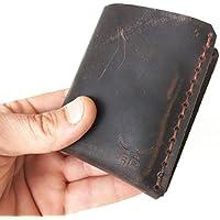 kleine & kompakte dunkelbraune mini Männer Heritage Geldbörse MONO aus bestem Leder, handgenäht & metallfrei - unser Topseller Geldbeutel - HAEUTE made in Germany