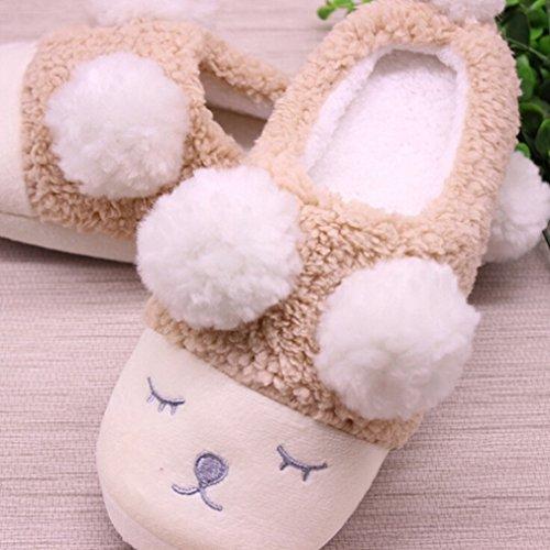 Yinew Schafe Indoor Hausschuhe Hause Baumwolle Hausschuhe Damen Kinder Pantoffeln Schielen kleine Kaffee 40-41