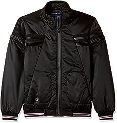 Fort Collins Boys Regular Fit Jacket (R1051_Black_26 (6 - 7 years))