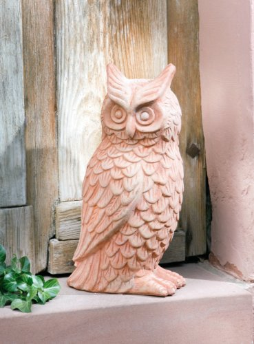 "Eule \""Hedwig\"" aus Terracotta"