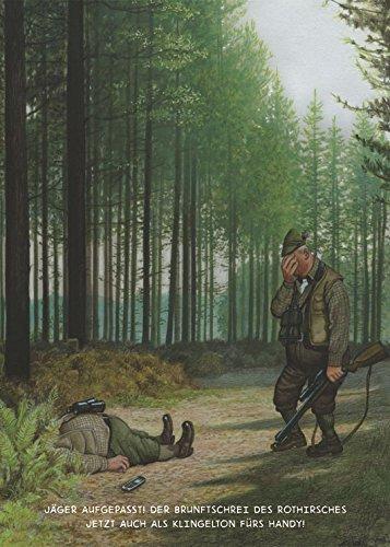 Postkarte A6 • 1448 \'\'Jäger-Klingelton\'\' von Inkognito • Künstler: Gerhard Haderer • Satire