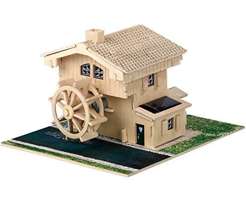 Preisvergleich Produktbild Weico Solar Holzbausatz Wassermühle mit Brunnen (Incl. Solarzelle und Motor)