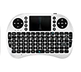 dingsheng Fern Mini Wireless Keyboard, i8 plus 2,4 GHz Portable 3 Farbe Hintergrundbeleuchtung Wireless Keyboard mit Touchpad Maus, Beste für Android Smart TV Box HTPC IPTV PC Pad XBOX (Weiß)