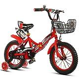 Bicicletas para niños Guo Shop- Bicicleta Plegable para Niños 2-4-6-7-8-9-10 Años 14/12/16/18 Carro de bebé Niños Niñas Ciclismo (Color : Red, Tamaño : 18')