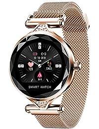H1 Smart Watch IP67 wasserdicht Fitness Tracker Bluetooth Herzfrequenz Blutdrucküberwachung 1,04 Zoll IPS HD Farbe Bildschirm Armbanduhr für iPhone Android Frauen