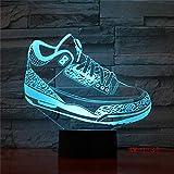 BFMBCHDJ Mood Lighting Visual Casual Shoe Styling Lámpara de mesa Dormitorio para niños 3D LED Interruptor táctil Colorido degradado NightLight