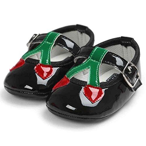 Ocasional Princess Baby Criança Cherry Preto Igemy De Macio Tênis Únicos Sapatos wS6xP4q