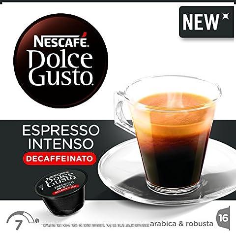 Nescafé Dolce Gusto Espresso Intenso Decaffeinato, Décaféiné, Capsules Expresso, Capsules de café, 16 Capsules