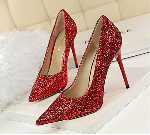 Wealsex Damen high heels Rot