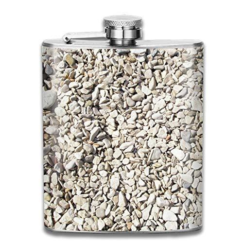 Flaschen for Men Beach Sand Rock Asphalt Flask 7 oz Premium Shot Flaschen 304 Highest Food Grade Stainless Steel Leak Proof Slim Hip Flaschen -