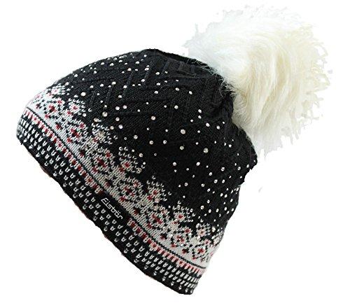 Eisbär Mütze - Connor Lux Crystal mit Swarovski-Elementen (schwarz)