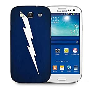 Snoogg White Lightning Vector Printed Protective Phone Back Case Cover For Samsung S3 / S III