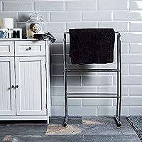Home Discount Bath Vida Towel Stand 3 Tier Bathroom Rack Free Floor Standing Towel Holder, In Chrome