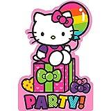 Hello Kitty Rainbow Einladungskarten für Geburtstagspartys, Rosa, 16 x 11 cm, 8 Stück