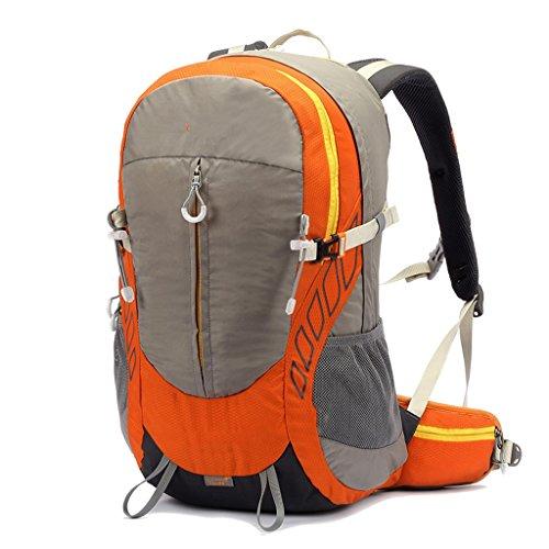 AMOS Borsa da montagna borsa a tracolla per lo zaino da viaggio degli uomini e le donne in sella sport a cavallo multifunzione zaino a piedi 36L ( Colore : Vino rosso ) Orange gray
