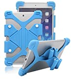 Tsmine Bush Spira B2 10 Inch FHD Tablet Silicone ShockProof case -Universal Elastic Stand Soft Skin Cover,Light Blue