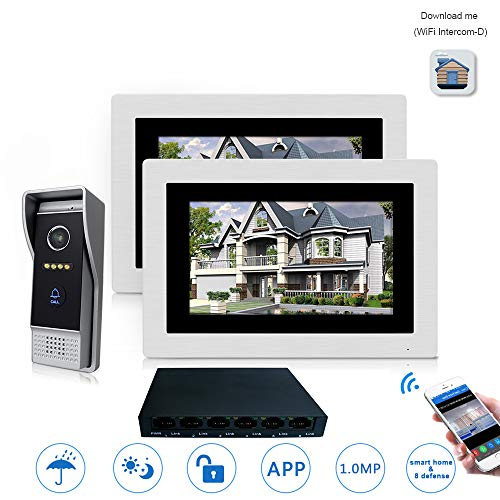 WG 7 '' WiFi IP Video Türsprechanlage Intercom Drahtlose Türklingel Lautsprecher Zutrittskontrollsystem Touchscreen Bewegungserkennung