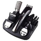ROCKCHAN 6 In 1 Professionelle Wiederaufladbare Haarschneider Titan Haarschneider Elektrorasierer Bartschneider Männer Styling Werkzeuge Rasur Maschine